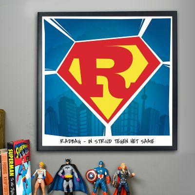 Gepersonaliseerd cadeau - Superman – personaliseerbare Poster