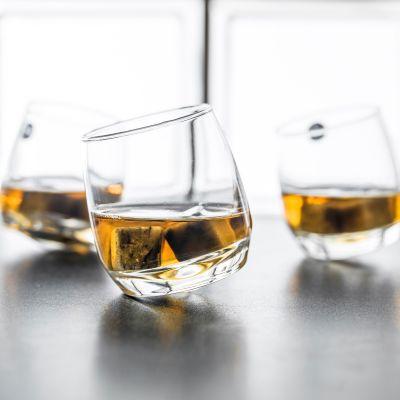 Verjaardagscadeau voor 50 - Rocking Whiskyglazen, set van 6 stuks
