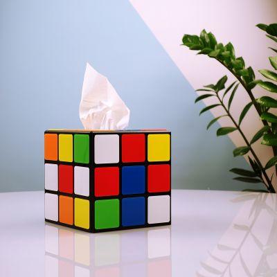 Lifestyle & wonen - Rubik's kubus tissuedoos uit Big Bang Theory