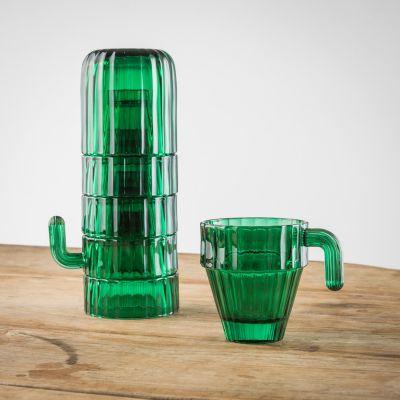 Kopjes & glazen - Saguaro cactus glazenset