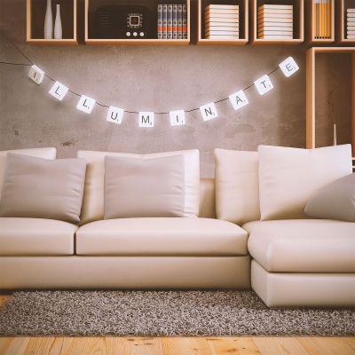 Cadeau voor ouders - Scrabble LED-lichtjesketen