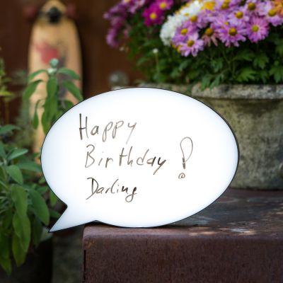 Cadeau voor ouders - Personaliseerbare Tekstballon Lamp