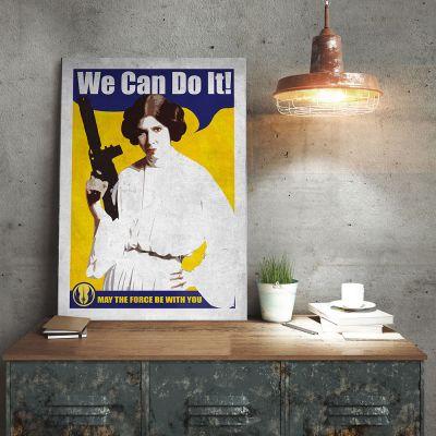Film & Serie - Star Wars metaalposter – Leia