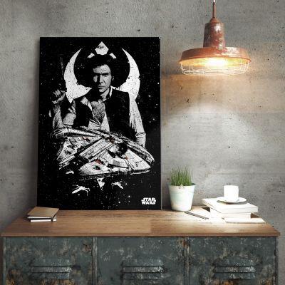 Poster - Star Wars metaalposter - Captain Han Solo