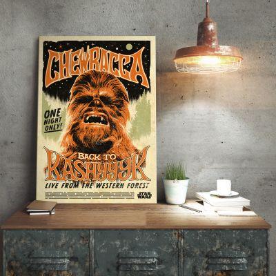 Film & Serie - Star Wars metaalposter – Chewbacca