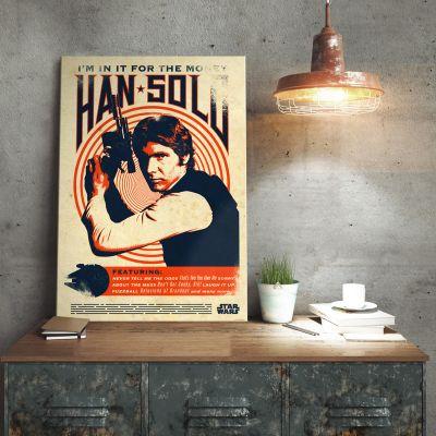 Poster - Star Wars metaalposter - Han Solo Retro