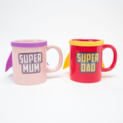 Kopjes & glazen - Super Mum & Super Dad mokken