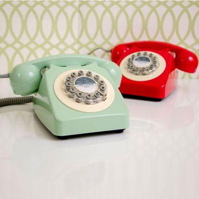 Cadeau voor ouders - Retro telefoon in rood of groen