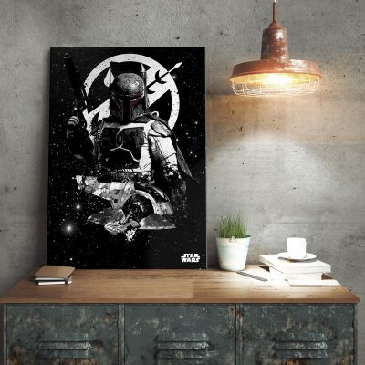 Film & Serie - Star Wars metaalposter - Boba Fett Slave 1