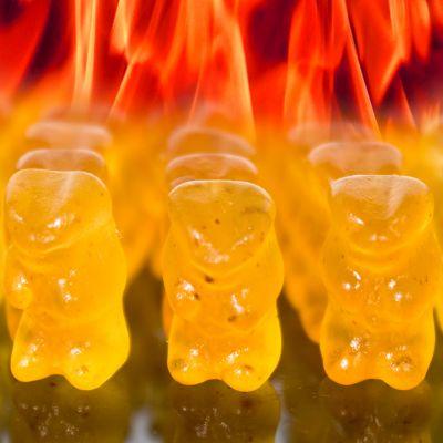 Carnaval - Duivels scherpe gummibeertjes