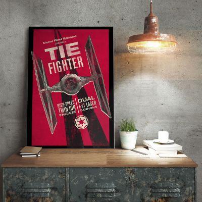 Film & Serie - Star Wars metaalposter – Tie Fighter