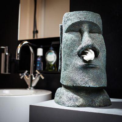 Kerstcadeau voor ouders - Moai tissuehouder