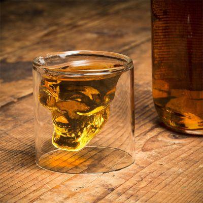 Halloween cadeau - Doodshoofd shotglas