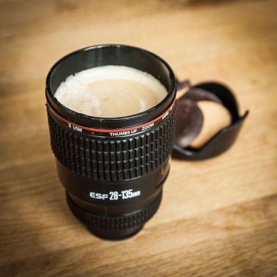 Verjaardagscadeau voor 50 - Cameralens beker