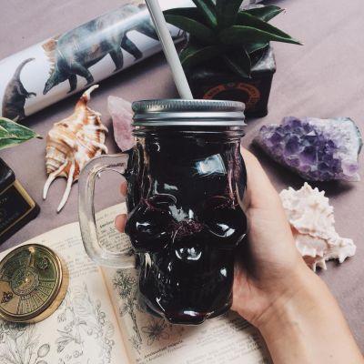 Halloween cadeau - Doodshoofd glas
