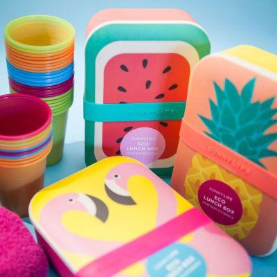 Cadeau voor vriend - Vrolijke eco lunchboxen