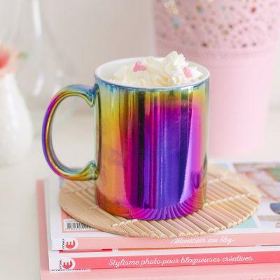 Kopjes & glazen - Kleurrijke mok
