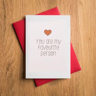 Verjaardagscadeau voor vriend - Valentijnskaart - Favourite Person