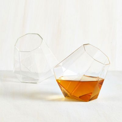 Retro kamer - Diamant whiskyglazen