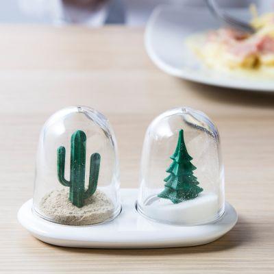Cadeau voor zus - Peper- en zoutvaatjes – Winter & Zomer