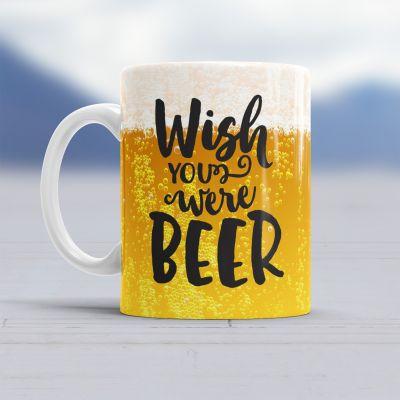 Verjaardagscadeau voor vader - Wish You Were Beer tas