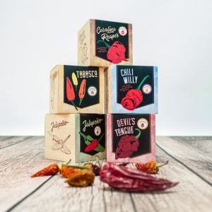 Ecocube – Chili in houtblokken