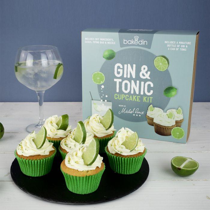 Gin Tonic set voor cupcakes