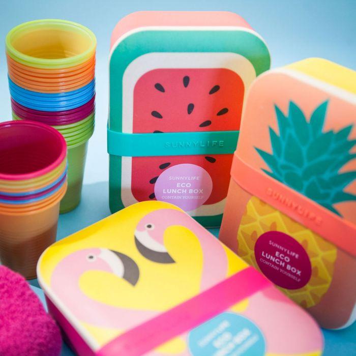 Vrolijke eco lunchboxen