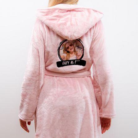 Personaliseerbare badjas met foto & tekst