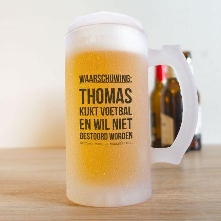 Bierpul voor voetbalfans