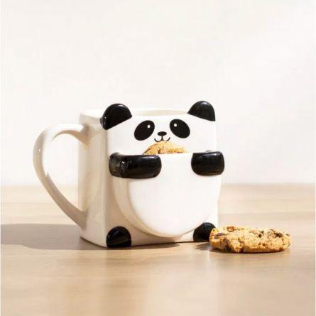 Panda mok met koekjeshouder