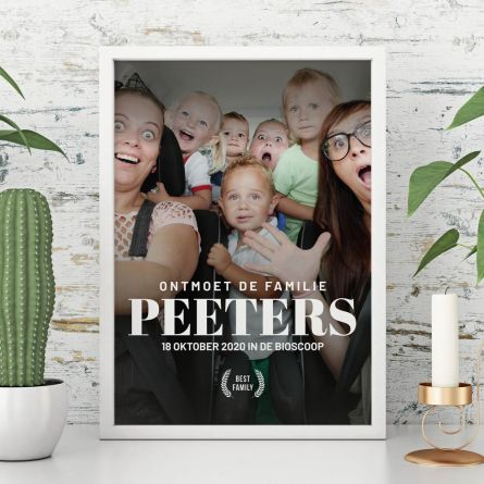 Personaliseerbare poster in filmposter stijl