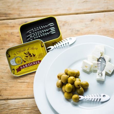 Cocktailprikker sardines, set van 6