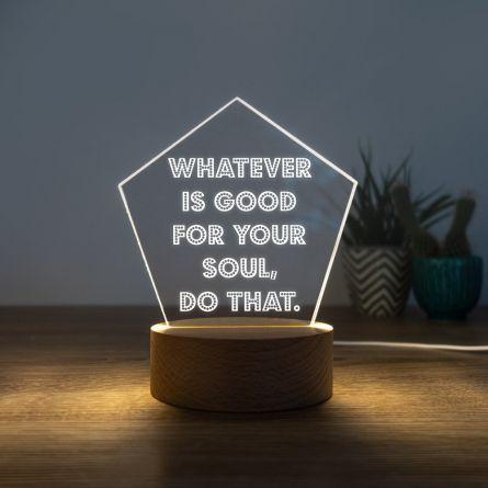 LED lamp met 5 tekstregels