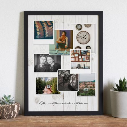 Personaliseerbare foto poster in vintage look
