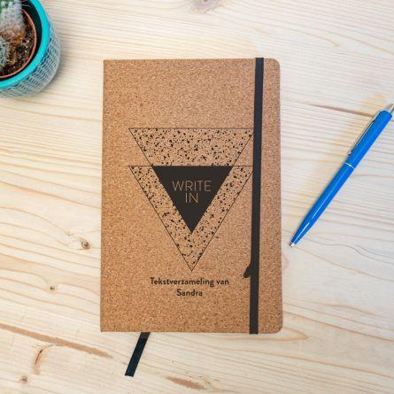 Personaliseerbaar Kurken Notitieboek - Write In