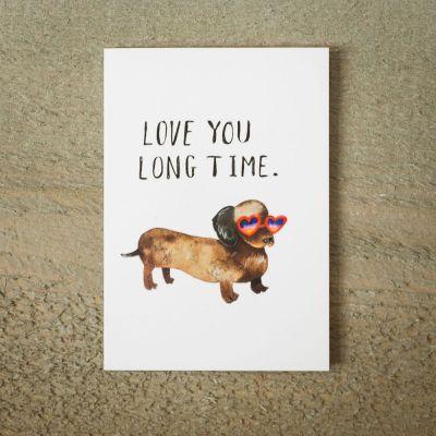 Love You Long Time wenskaart