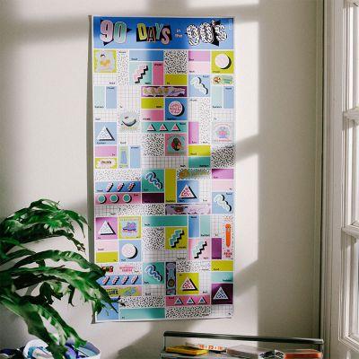 Nieuw - Scratch poster – 90 dagen in de Nineties