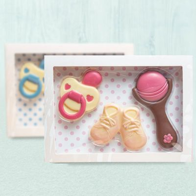 Baby cadeaus - Baby sets uit chocolade