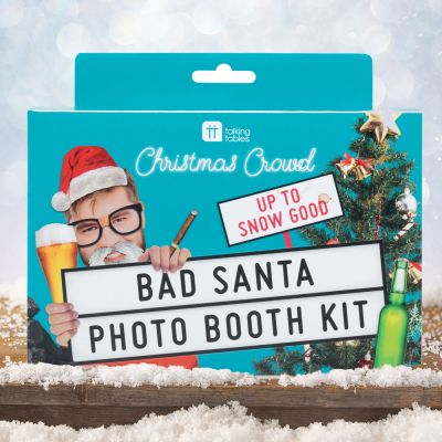 Kerstcadeau voor vriend - Bad Santa fotoset voor Kerstmis