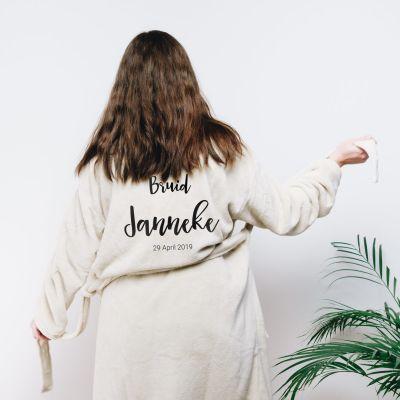 Verjaardagscadeau voor moeder - Personaliseerbare badjas met naam