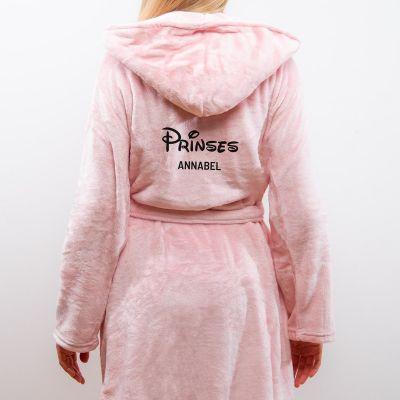 Verjaardagscadeau voor haar - Personaliseerbare badjas prinses