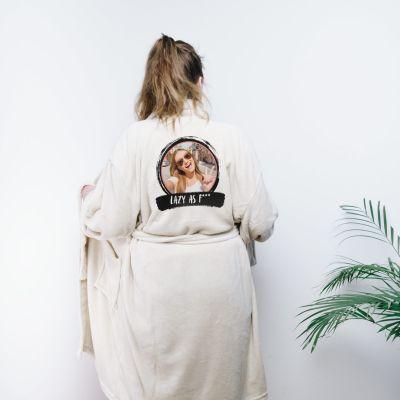 Vrijgezellenfeest - Personaliseerbare badjas met foto & tekst