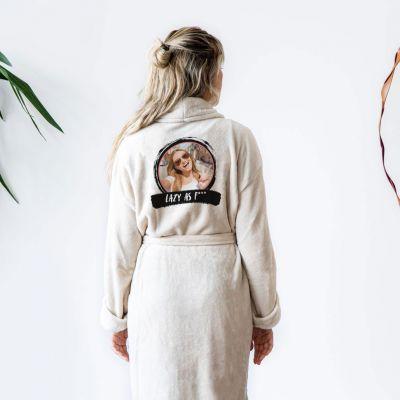 Cadeau voor broer - Personaliseerbare badjas met foto & tekst