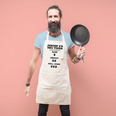Vaderdag cadeau - Personaliseerbaar keuken schort – grillmeester