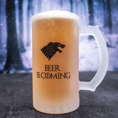 Verjaardagscadeau voor hem - Personaliseerbare bierpul met wolf
