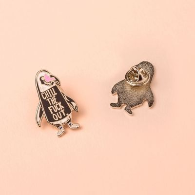 Back to school cadeaus - Chill out pinguïn pin