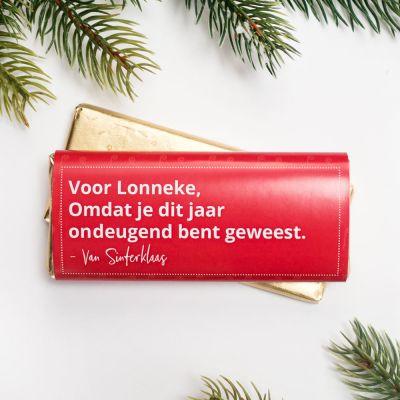 Sinterklaas cadeau - Personaliseerbare Chocolade Sinterklaas