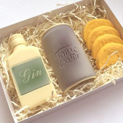Cadeau voor moeder - Gin Tonic set van chocolade