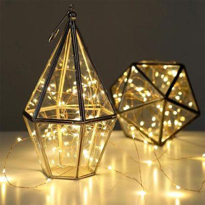 Tuinfeest decoratie - Lichtjesketting van koper